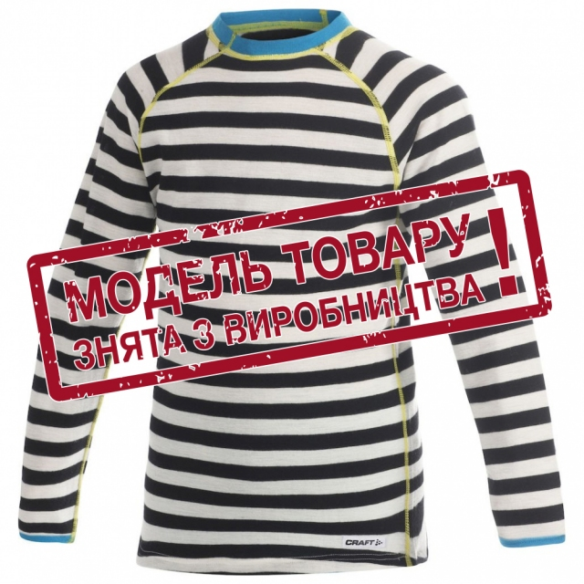 Термобілизна дитяча Craft Warm Wool CN Junior Black/White