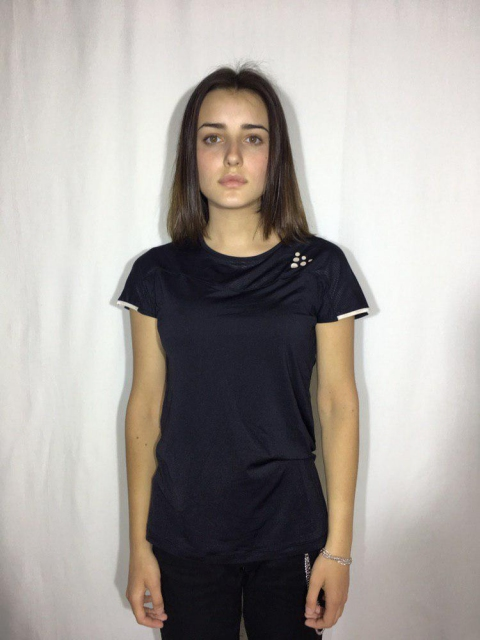 Жіноча футболка Craft Shade SS Tee Woman - Black/Champ (Розмір М)