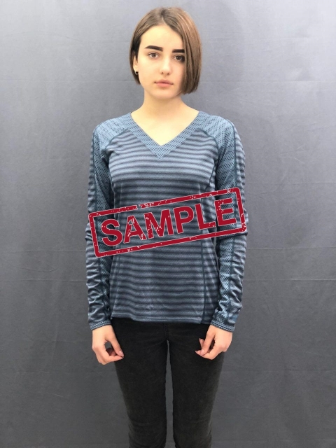 Жіноча кофта The North Face  LS Novelty Knit Wmn Blue (розмір М)