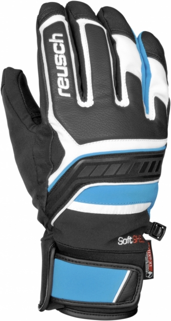 Гірськолижні рукавиці Reusch Thunder R-TEX® XT 148 white/brilliant blue