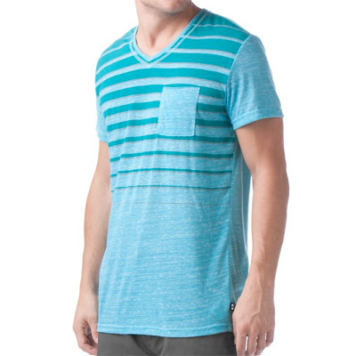 Футболка чоловіча Oakley Raw Striped Pocket Blue Coral