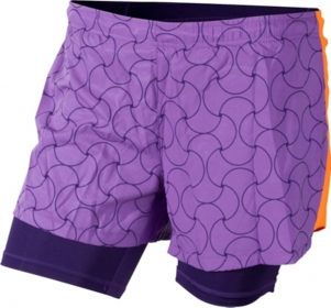 Жіночі шорти Craft Joy 2 in 1 Shorts Lilac/Flourange/Dynasty (розмір М)