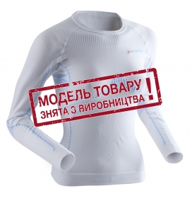 Термобілизна жіноча X-Bionic Extra Warm Lady Shirt Long Sleeves Roundneck White/Sky blue