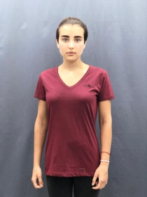 Жіноча футболка The North Face Dome Tee Wmn Barolo Red (Розмір М)