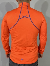 Чоловіча кофта Craft Facile Stretch Pullover Cayenne/Sweden Blue (розмір М)